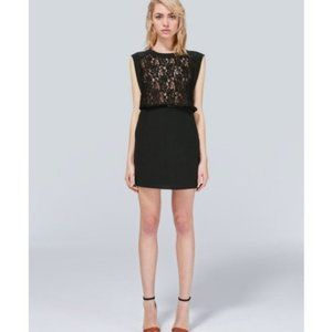 Aritzia Wilfred Sablons Silk and Lace Dress
